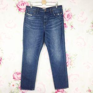 Madewell High Rise Slim Boyjean Denim Jeans 34